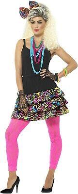 Women's 1980's Party Girl Wild Child Fancy Dress Costume Kit Madonna Hen Theme - Wild Themen Kostüm