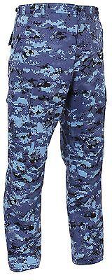 Men's Sky Blue Digital Camo BDU Cargo Pants - Tactical Military Style S - 3XL Bdu Sky Blue Camo