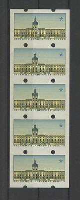 BERLIN ATM SCHLOSS CHARLOTTENBURG ABART 5ER-STREIFEN UNGESCHNITTEN ** MNH m1115
