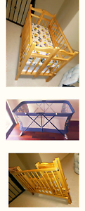 1 baby bed+ 1 baby cots good condition