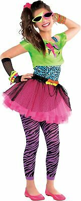 SALE! Teen 80s Totally Awesome Girls Fancy Dress Costume Party Outfit Age 10-14 ()