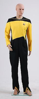 Star Trek Yellow Jumpsuit Uniform Plus Size Halloween Costume Cosplay Custommade (Plus Size Star Trek Costumes)