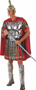 DELUXE-ROMAN-SOLDIER-CAESAR-PERIOD-COSTUME-MENS-FANCY-DRESS-WITH-BREAST-PLATE