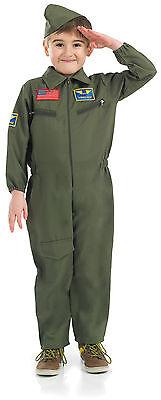 Jungen Kinder Kämpfer Pilot Overall Air Force Raf Buch Woche Kostüm Alter - Raf Pilot Kostüm