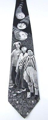 Three Stooges Ralph Marlin Tie Golf Larry Curly & Moe Sport Theme  ()