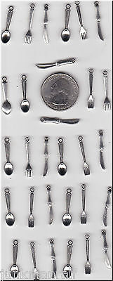 YOU GET 30 KNIFE FORK & SPOON  SILVER TONE CHARMS,-JUNKMANRALF U.S. SELLER.- C26
