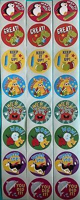 24 Fun 1 inch Animal Theme Reward Stickers for Kids and Teachers