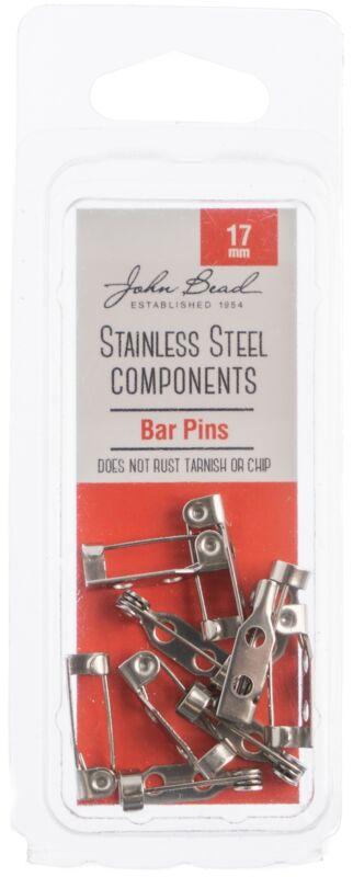 Stainless Steel Barpin 10/Pkg-17mm