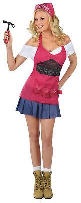 Hammer Time Adult Women Costume Sexy Dress Career Cute Funworld 121074 - Hammer Time Costume