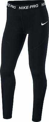 Schwarze Mädchen Sporthose (Nike Mädchen Sport-Leggings Fitnesshose Trainingshose G NIKE PRO Tight schwarz)