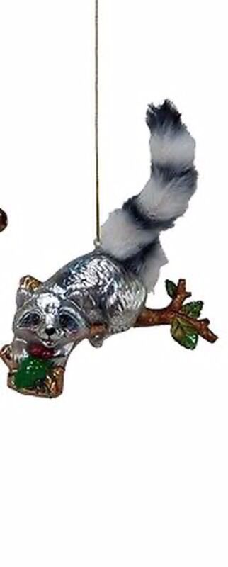 Katherine's Collection Ornament Raccoon 22-524732 woodland