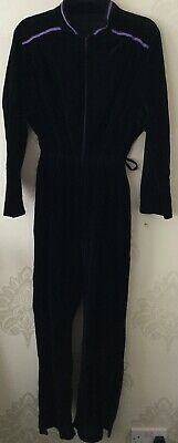 Retro/vintage Velvet Jumpsuit UK 18