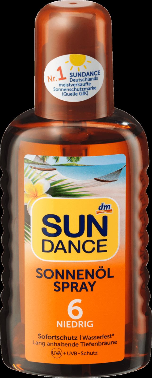 Sun Dance Sonnenöl Spray Sonnenspray Sonnenmilch Sonnencreme 200ml, LSF 6