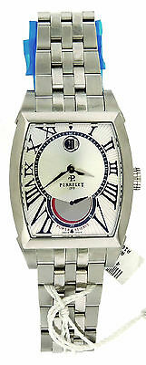 New Men Perrelet  A1017/A Automatic Stainless Steel Power Reserve Date Watch B&P