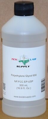 Tex Lab Supply Polyethylene Glycol 600 Peg 600 Nf-fccep-usp 500 Ml
