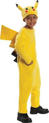 Pokemon Deluxe Pikachu Child Yellow Jumpsuit Halloween Fancy Dress Costume (Yellow Jumpsuit Halloween Costume)