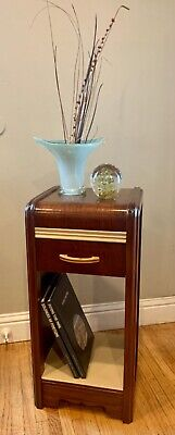Vintage Art Deco Style Waterfall Nightstand End Table HTF