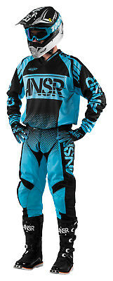 Answer Syncron Blue Black Jersey   Pant Combo Set Motocross A17 5 Off Road Gear