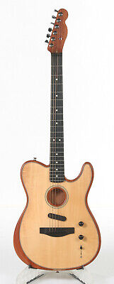 Fender Acoustasonic Telecaster Electric Guitar - Natural - Neck Twisted