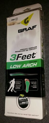 Graf 3Feet Hockey Insoles Low Arch Sz M 7-8
