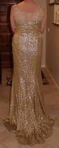 Stunning Gold Sequined Dress Size 14 Belconnen Belconnen Area Preview