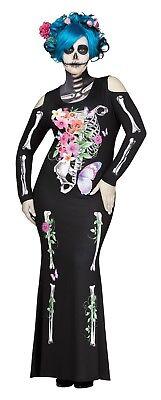 Fun World Schön Knochen Sugar Skelett Gotik Übergröße Halloween Kostüm (Schöne Knochen Kostüm)