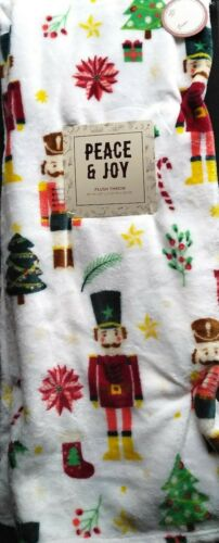 Nutcracker Christmas Holiday throw blanket 50x60