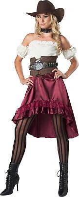 Cowboy Woman Costume (Saloon Gal Cowboy Western Womens Adult Costume NEW)