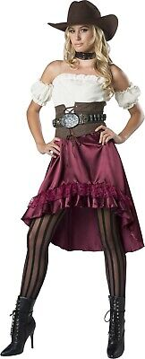 Adult Saloon Gal Burlesque Can Can Girl Wild West Costume  - Saloon Gal Costume