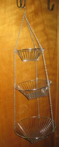 3 Tire Metal/Wire Basket Fruit/Veggies/Bathroom & More Farmhouse Country!