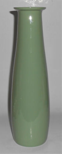 Franciscan Pottery Contours Art Ware Green/White #90 Bottle Vase