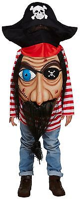 Child's Boys Girls Halloween Jumbo Face Pirate Fancy Dress Costume Outfit 4-12yr](Girl Pirate Faces Halloween)