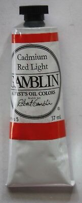 Gamblin Cadmium Red Light (Gamblin Oil Paint-CADMIUM RED LIGHT-37ml-Series 5)