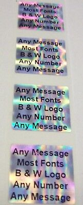 1000 Custom Print Security Hologram .75 Sq Links Tamper Evident Sticker Seals