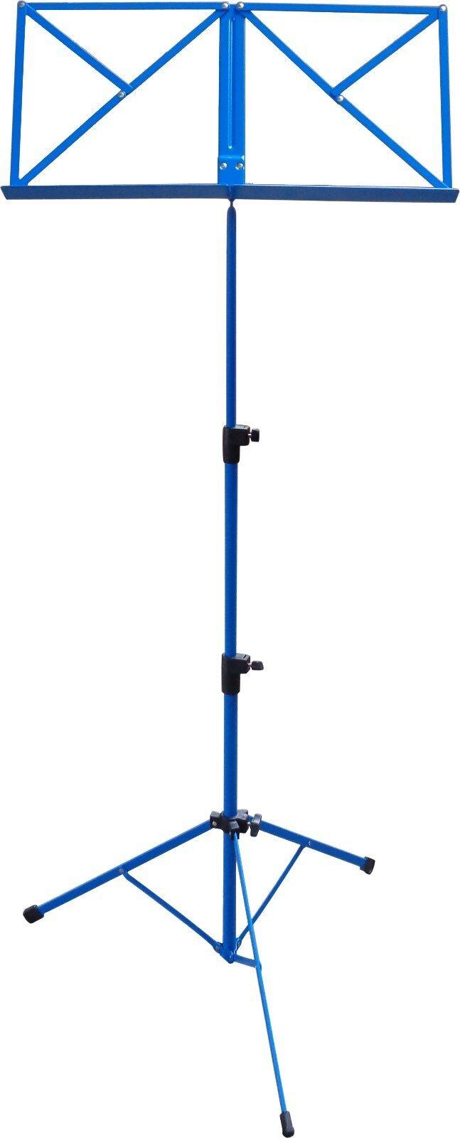 NOTENSTÄNDER - NOTENAUFLAGE + TASCHE  (blau, rot, schwarz) Höhe von 50-124cm Notenständer blau