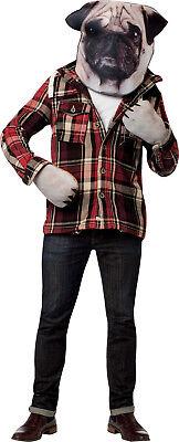 HALLOWEEN ADULT PUG DOG KIT PHOTO PRINT MASK PROP  (Pug Halloween Mask)