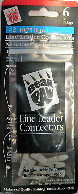 BEAR PAW LINE LEADER CONNECTORS #2 10-75# TEST MP-2 6/PK NO KNOTS