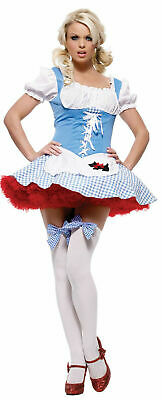 SEXY Halloween COSTUME DOROTHY GIRL WOMENS Adult Wizard Of Oz Kansas Cosplay L](Wizard Of Oz Halloween Costume)