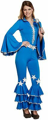 Ladies 70's 80's Disco Pop Star Halloween Fancy Dress Costume Outfit 8-10-12 - 80's Halloween Outfits