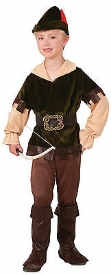 Boys Robin Hood Costume Archer Woodsman Renaissance Costume Child Medium 8-10 (Renaissance Costume For Boys)