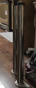 2 stainless steel table legs from LeeValley
