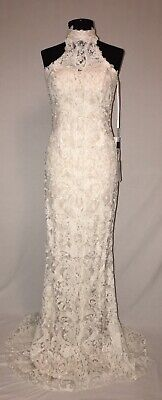 LA FEMME 24089 FORMAL PARTY PAGEANT PROM HOMECOMING DRESS 00 WHITE NEW WITH TAGS