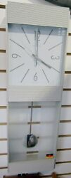 Hermle Wall Clock Brushed Aluminum and Glass model # 7087100
