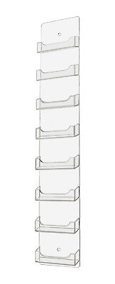 Marketing Holders Vertical 8-Pocket Wall-Mount Business Card Display (Business Card Display Holders)
