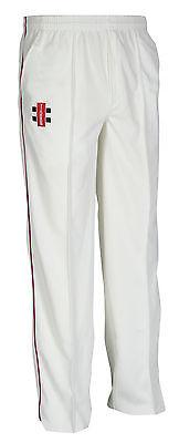 SECONDS New Gray Nicolls Matrix Cricket Trousers- Maroon Trim - Large