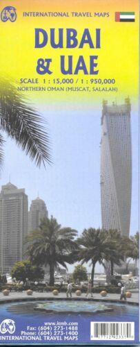 Map of Dubai, UAE & Oman, by ITMB