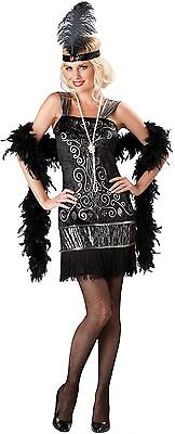 Sexy Adult Halloween InCharacter Flirty Flapper Roaring 20's Costume ()