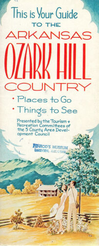 Arkansas Ozark Hill Country Vintage Travel Brochure Photos Keyed Map 5 Counties