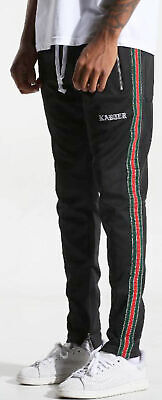 Karter Collection Floyd Track Pants Glitter Black Athletic Fashion Mens Pant