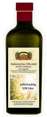 Mildes Olivenöl (Olivenöl  Extra Vergine  Ligurien mild fruchtig 0,50)